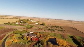 Aerial agriculture farm field landscape stock video