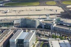 Aerial of airport in Frankfurt Stock Photo
