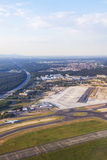 Aerial of airport Rhein-Main Royalty Free Stock Photo