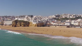 Aerial from Albufeira in the Algarve Portugal stock video footage