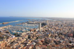 Aerial of alicante Royalty Free Stock Photos