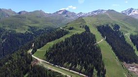 Aerial Alp Video stock footage