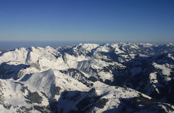 Aerial alps landscape Stock Photography