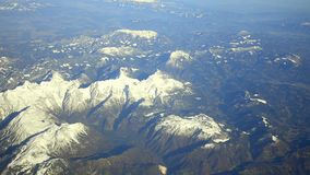 Aerial Alps mountains stock video