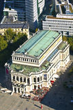 Aerial of the Alte Oper Opera House in Frankfurt am Main Royalty Free Stock Photo