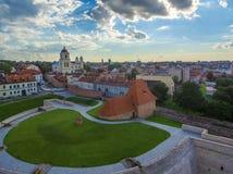 aerial Alte Stadt in Vilnius, Litauen Lizenzfreies Stockbild