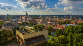 aerial Alte Stadt in Vilnius, Litauen Stockfotos