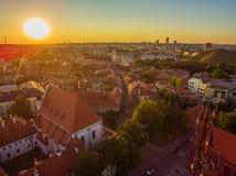 aerial Alte Stadt in Vilnius, Litauen Stockbilder
