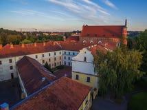 aerial Alte Stadt in Vilnius, Litauen Lizenzfreie Stockbilder