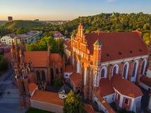 aerial Alte Stadt in Vilnius, Litauen Lizenzfreie Stockfotografie