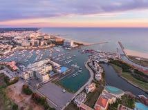 aerial Ansicht vom Himmel, das Fremdenverkehrsort Vilamoura Stockbild