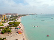 Aerial from Aruba island in the Caribbean Royalty Free Stock Photos