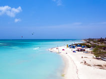 Aerial from Aruba island in the Caribbean Stock Photography