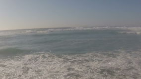Aerial from  the atlantic ocean in Portugal stock footage