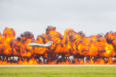 Aerial attack stock photo