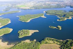 Aerial autumnal view of Mazury Royalty Free Stock Photos