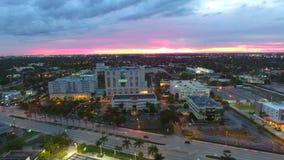 Aerial Aventura Medical Center stock video footage