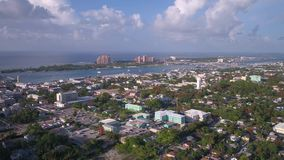 Aerial Bahamas Nassau July 2017 Sunny Day 4K Inspire 2. Aerial video of Nassau island in the Bahamas on a clear beautiful sunny day stock video footage