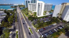 Aerial Bal Harbour 4k hyperlapse video stock footage