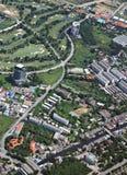 Aerial Bangkok. Aerial view of Bangkok outskirts Stock Images