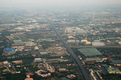 Aerial Bangkok outskirts Stock Photos