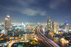 Aerial Bangkok Skyline Stock Image