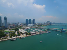 Aerial Bayside Downtown Miami Stock Photography