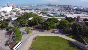 Aerial of Bayside Miami Royalty Free Stock Images