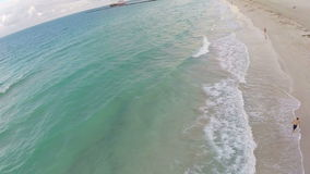 Aerial beach footage Royalty Free Stock Images
