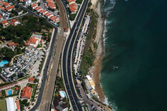 Aerial beach view. Aerial view of a beach in Portugal stock image