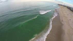 Aerial Beach View stock footage
