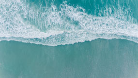 Aerial beach wave on tropical sea Royalty Free Stock Images