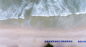 Aerial beach wave on tropical sea Stock Photography