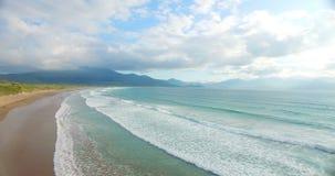 Beautiful turquoise sea and coastline 4k. Aerial of beautiful turquoise sea and coastline 4k stock video