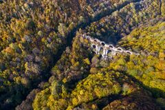 Free Aerial Beautiful View Of The Kursunlugerme Aqueduct Bridge Near Gumuspinar Village, Catalca, Istanbul Royalty Free Stock Image - 179221376