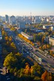 Aerial Beijing city autumn morning stock photography