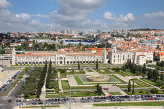 Aerial of Belem, Lisbon, Portugal Stock Photos
