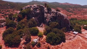 AERIAL: The Big Rock stock footage