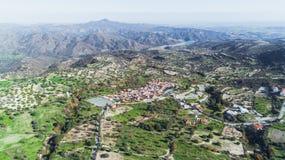 Aerial Kato Lefkara, Larnaca, Cyprus Royalty Free Stock Image