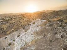 Aerial Choirokoitia, Larnaca, Cyprus Stock Image