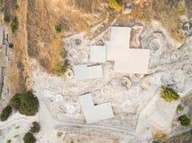 Aerial Choirokoitia, Larnaca, Cyprus Royalty Free Stock Images