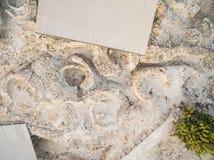 Aerial Choirokoitia, Larnaca, Cyprus Royalty Free Stock Photo
