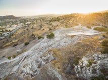Aerial Choirokoitia, Larnaca, Cyprus Stock Photos