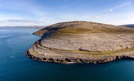Free Aerial Birds Eye View Of The Burren National Park. Scenic Tourism Site Stock Photography - 128258292