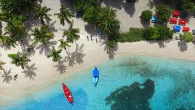Aerial birds eye view photo taken by drone of tropical seascape Stock Images