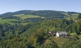 Aerial Black Forest scenery Royalty Free Stock Photography