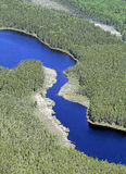 Aerial blue lake Royalty Free Stock Photos