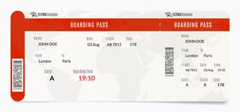 Aerial boarding pass. Plane ticket design. Airplane template illustration. Aerial boarding pass. Plane ticket design. Airplane template illustration royalty free illustration