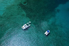 Aerial of Boats Stock Photos