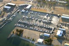 Aerial boats Royalty Free Stock Photo